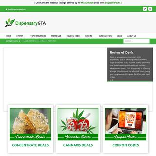DispensaryGTA - Reviews of Mail Order Marijuana Dispensaries