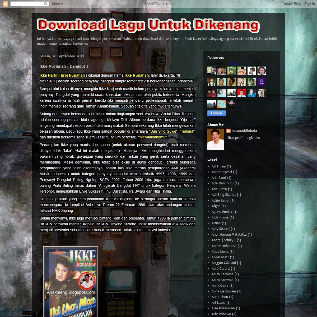 Download Lagu Untuk Dikenang (by Anak Taeng)- Ikke Nurjanah ( Dangdut )
