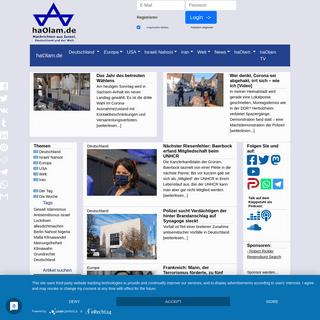 haOlam.de - Nachrichten aus Israel, Deutschland und der Welt