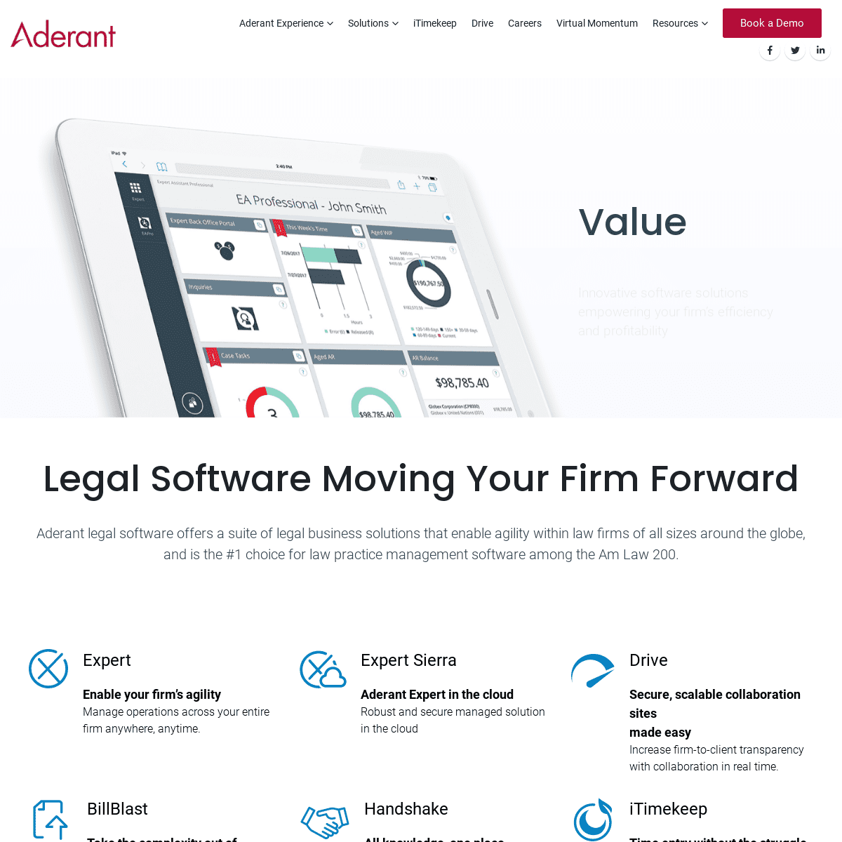 Legal Software - Legal Time and Billing - Legal Business Solutions - Aderant