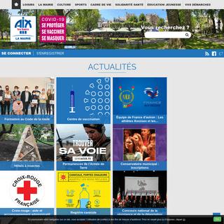 Page d`accueil Mairie d`Aix-les-Bains infos