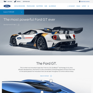 Ford GT Supercar - Ford Sports Cars - Ford.com