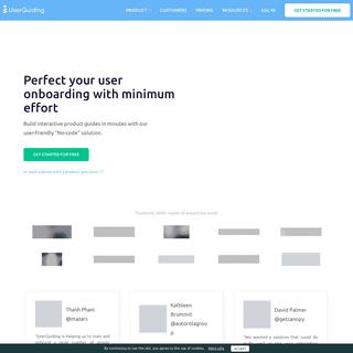 Product Walkthrough & User Onboarding Software - UserGuiding