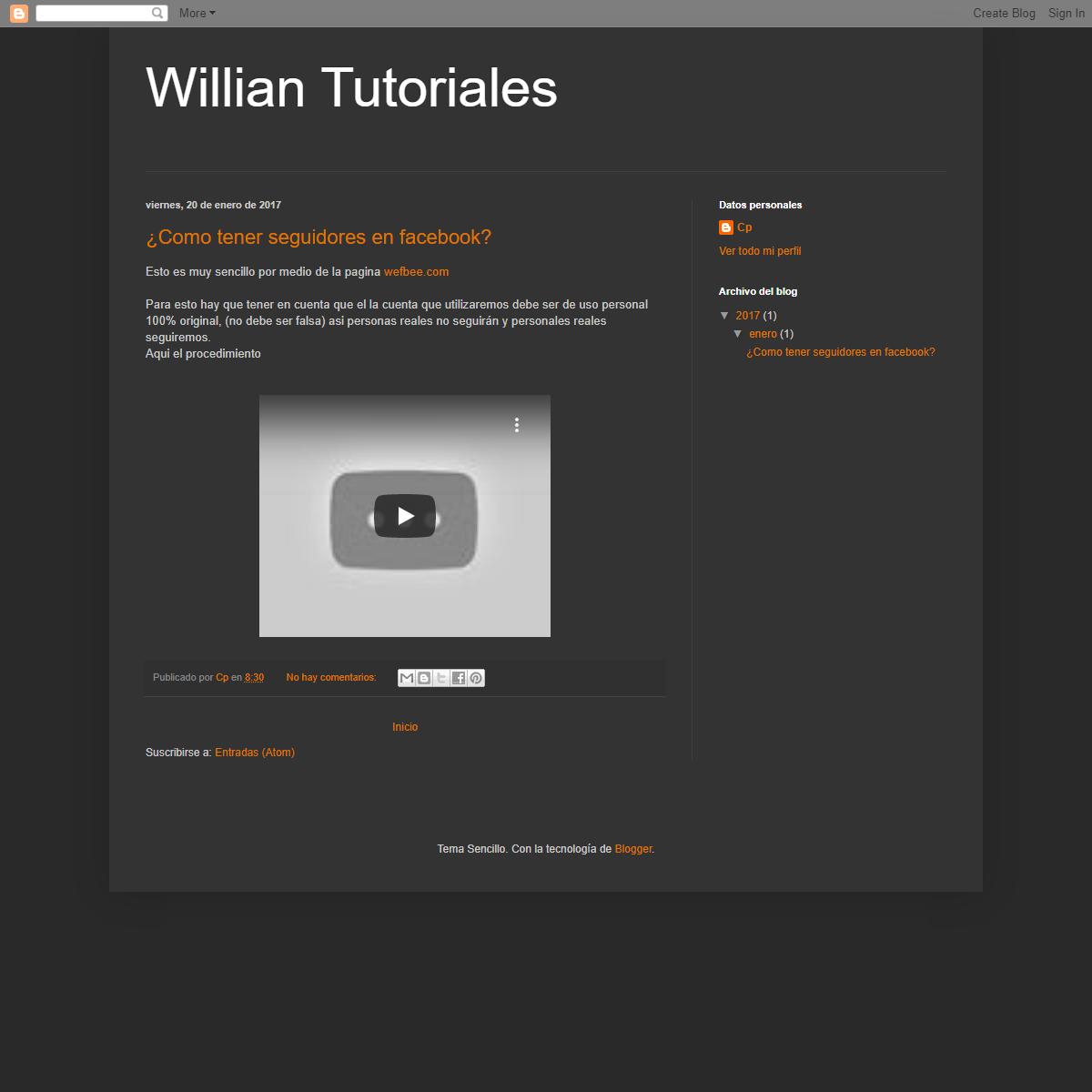 Willian Tutoriales