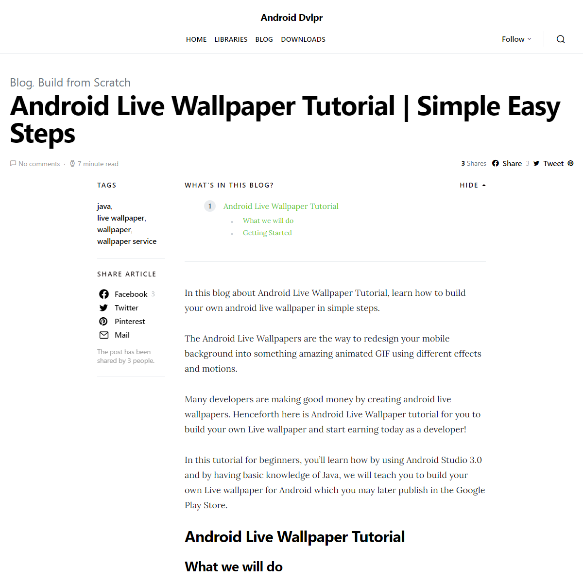 Android Live Wallpaper Tutorial - Simple Easy Steps - Android Dvlpr