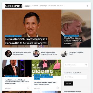 Scheerpost - Progressive News & Analysis - Robert Scheer