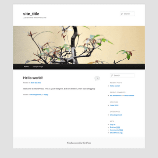 site_title - Just another WordPress site