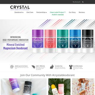CRYSTAL™ The Original, Safe, Natural Mineral Salt Deodorant – CRYSTAL™ Deodorant
