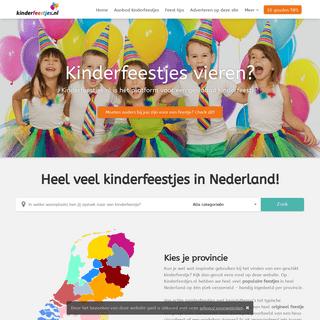 Kinderfeestjes.nl - Kinderfeestjes vieren- De leukste kinderfeestjes bij jou in de buurt