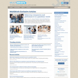 MultiBriefs - Your source for industry-specific News Briefs