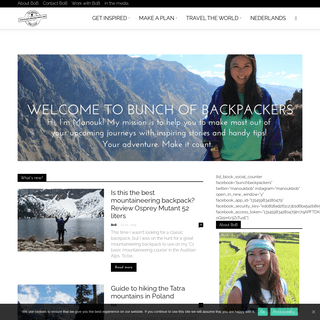 Bunch of Backpackers homepage - Bunch of Backpackers