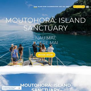 Home - Moutohora Island Tours