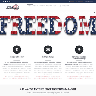 Debt to Success System - DTSS Complete Freedom & Debt Discharge Membership Programs