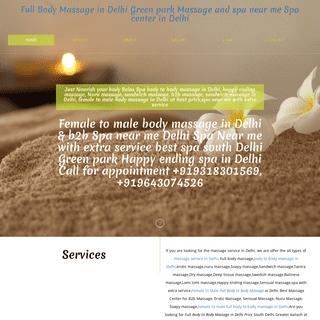 full Body to Body massage in Delhi, Female to male massage spa Near me with extra service, Nuru massage in Delhi b2b spa