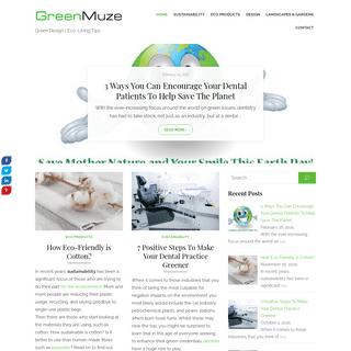 Green Muze – Green Design - Eco-Living Tips
