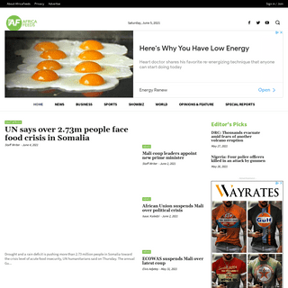 Homepage - Africa Feeds