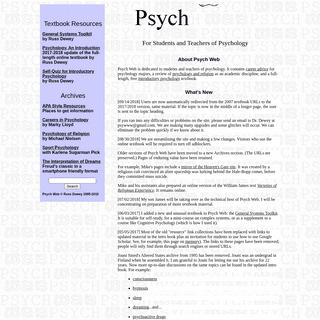 Psych Web by Russ Dewey