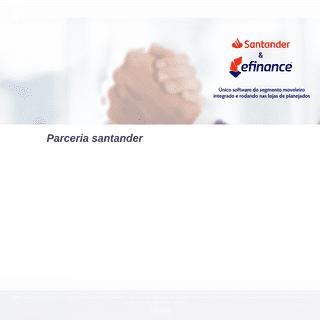 Parceria santander - eFinance - Sistema para Loja de Móveis - eFinance - Sistema para Loja de Móveis