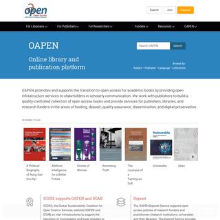 Online Library and Publication Platform - OAPEN