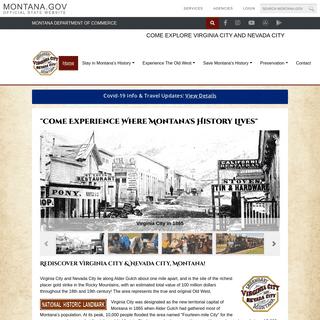 Stay and Play in History - Explore Legendary Virginia City and Nevada City Montana