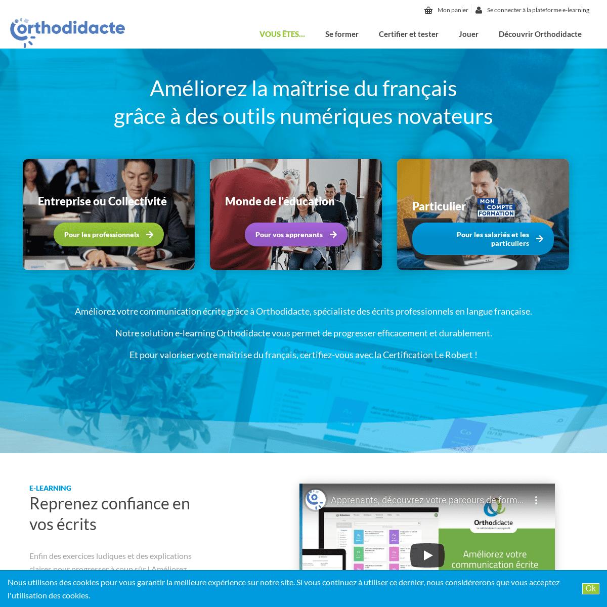 Orthodidacte, vos outils en ligne pour améliorer votre français