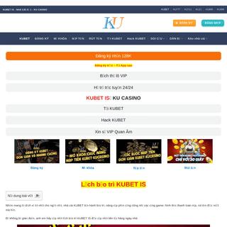 KUBET IS 🎖️ KU CASINO 🎖️ Trang chủ đăng ký, tải app KU BET 2021