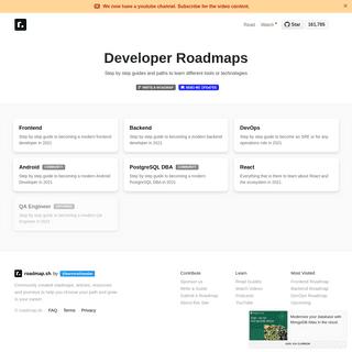 Developer Roadmaps