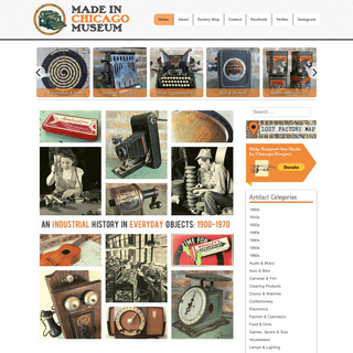 Made-in-Chicago Museum - An Industrial History in Everyday Objects- 1900-1970