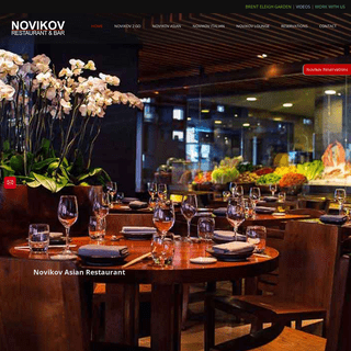 NOVIKOV RESTAURANT & BAR – Two beautiful restaurants, one Pan Asian and one Italian and a buzzing Lounge Bar