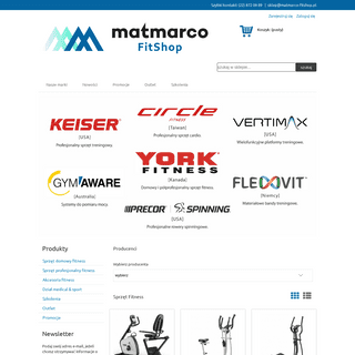Najwyższej jakości sprzęt fitness - MATMARCO FitShop
