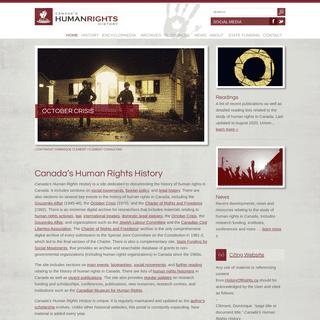 Canada`s Human Rights History ~ Canada`s Human Rights History