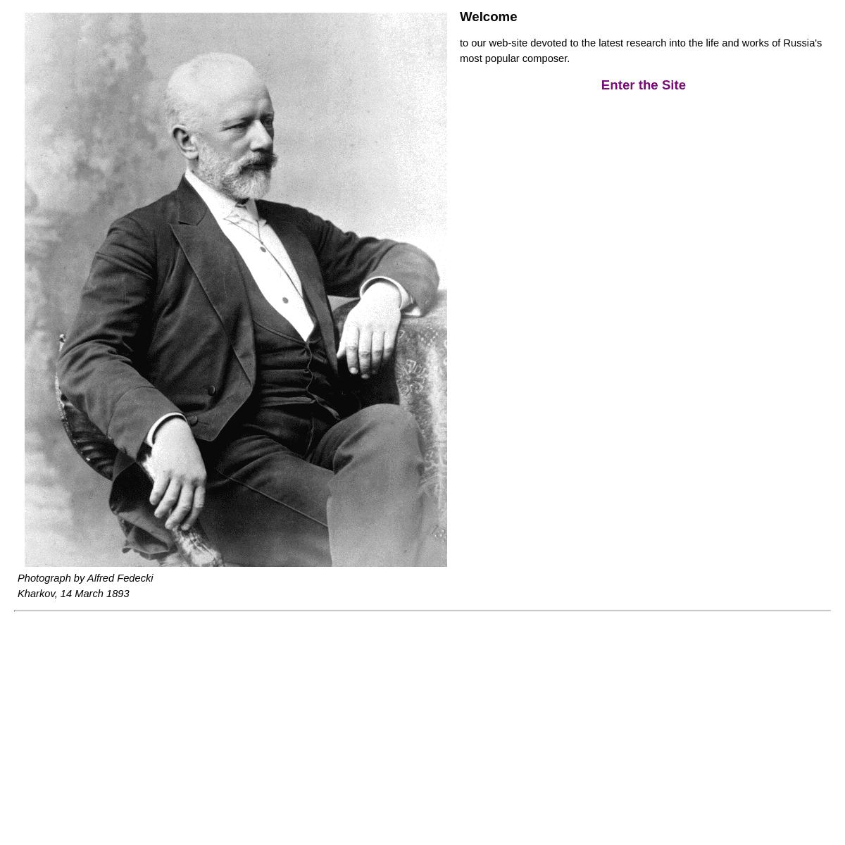 Tchaikovsky Research