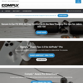 Comply™ Foam Tips - Replacement Earphone Tips