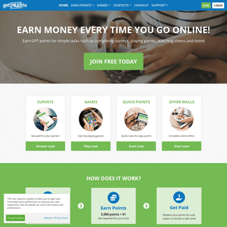 Earn money online from home - GetPaidTo