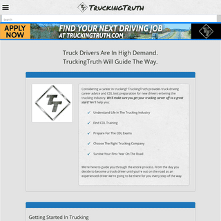 CDL Training Advice And CDL Test Prep For New Truck Drivers