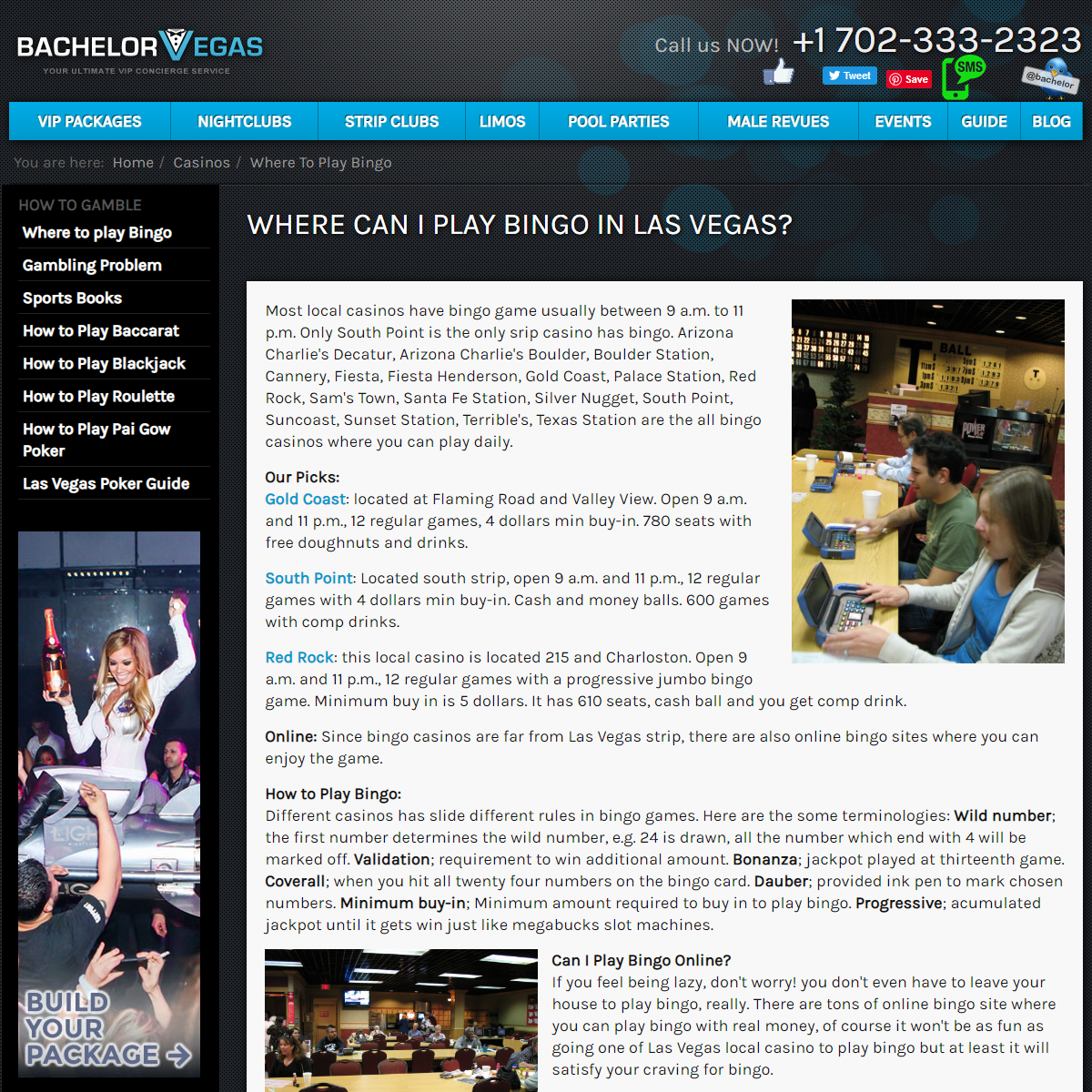 Where Can I Play Bingo in Las Vegas- - Nightlife Blog