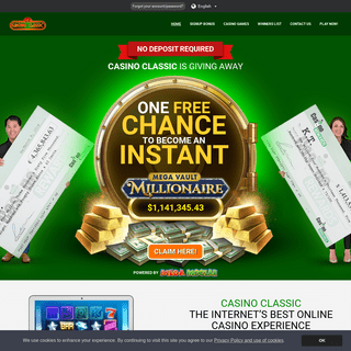 Casino Classic - Instant 100- Free Chance to Become a Millionaire