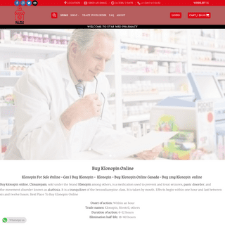 Buy klonopin online without prescription Home - Star Med Pharmacy