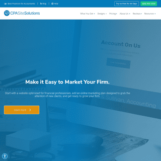 CPA Site Solutions- Accounting Websites, CPA Website marketing (Free For 60 days)