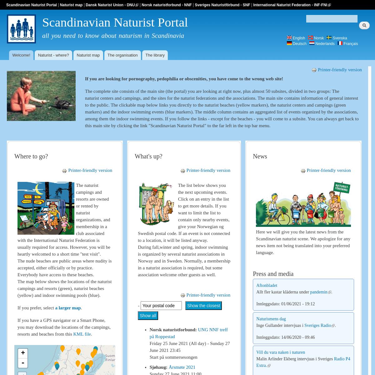 #Welcome! - Scandinavian Naturist Portal