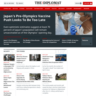 The Diplomat – The Diplomat is a current-affairs magazine for the Asia-Pacific, with news and analysis on politics, security,