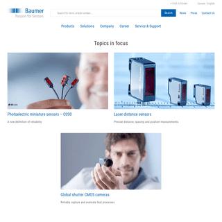 Baumer - Passion for Sensors - Baumer international