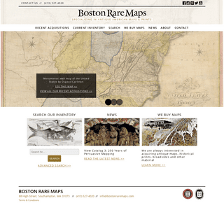 Boston Rare Maps - Specializing in antique American maps & prints