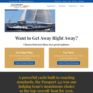 Home Page - Passport Yachts