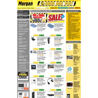 Cheap laptops, PCs, Computers, Monitors, Printers, Digital Cameras and accessories - Morgan Computers