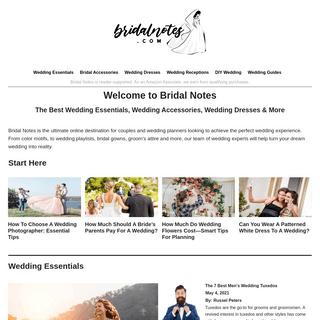 Bridal Notes - Best Wedding Essentials & More
