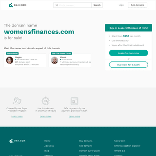 The domain name womensfinances.com is for sale