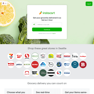 Instacart - Grocery Delivery or Pickup from Local Stores Near You
