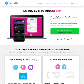 Speedify - Increase Stability, Speed, & Security.