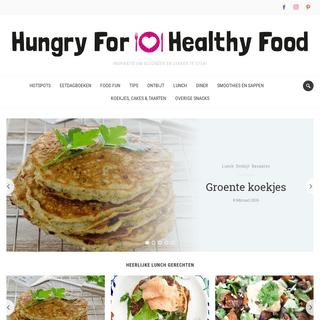 Hungry For Healthy Food - Inspiratie om gezonder én lekker te eten!